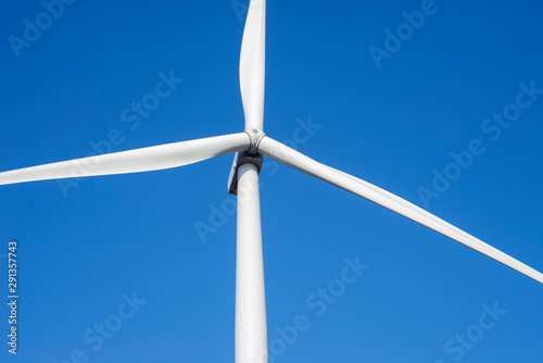 Fotografie, Obraz  Wind turbines generating electricity with blue sky