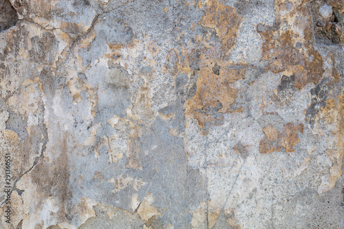 Poster Old dirty textured wall Old Weathered Bluish Damaged Concrete Wall Texture