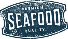 Premium Quality Vintage Seafood Sign