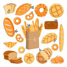 Fresh Baked Grain Bread Set. V...