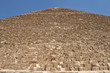 Western side of Pyramid of Khufu or the Pyramid of Cheop, the oldest and largest one  in the Giza pyramid complex