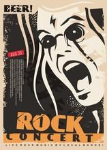 Rock Concert Poster Design Tem...