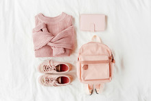 Warm Sweater With Backpack And...