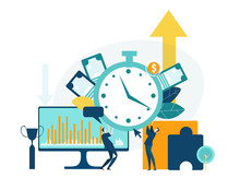 Time Is Money, Business Concept Illustration