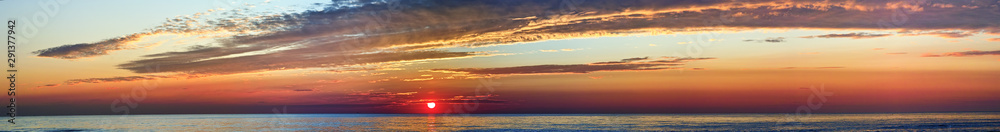 Fototapety, obrazy: Breathtaking sunset, travel top destination, dreaming of an holiday theme, beautiful end of day