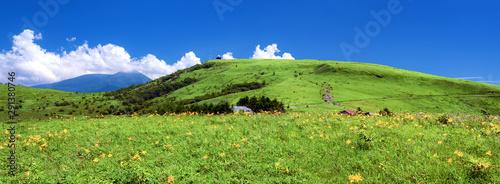 Obraz na plátně 長野県・夏の車山高原 パノラマ 1