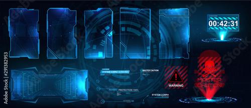 Valokuva  Screens HUD, UI, GUI futuristic interface