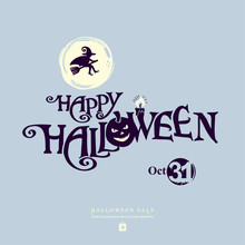 Halloween Banner With Vector L...
