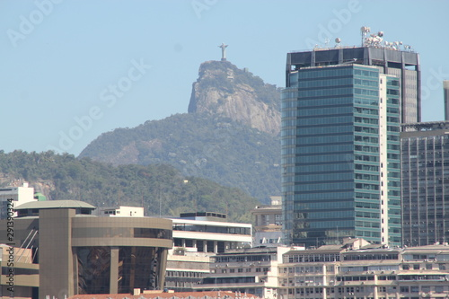 Canvas Print View of Rio de Janeiro buildings with Christ the Redeemer
