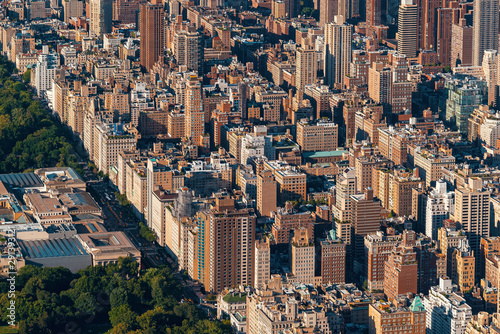 obraz lub plakat Aerial view of Manhattan, NY and Central Park
