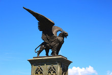 Statue Of Griffin Or Griffon A...