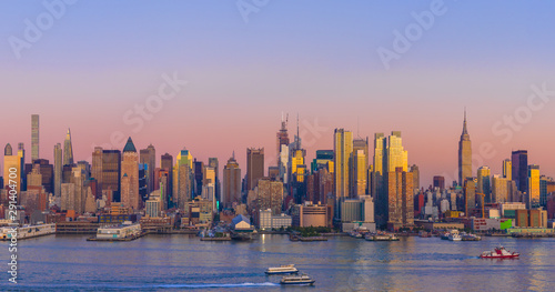 New York City Manhattan midtown buildings skyline Canvas