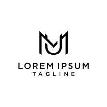 Initial Letter Logo MU, UM, Lo...