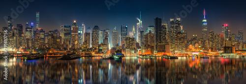 Photo  Panoramic view on Manhattan at night, New York, USA