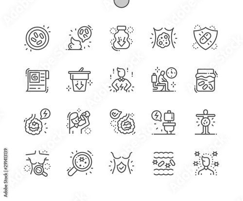 Carta da parati  Probiotics Well-crafted Pixel Perfect Vector Thin Line Icons 30 2x Grid for Web Graphics and Apps