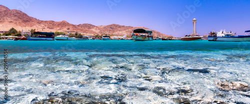 Aqaba Touristic Harbor Canvas Print