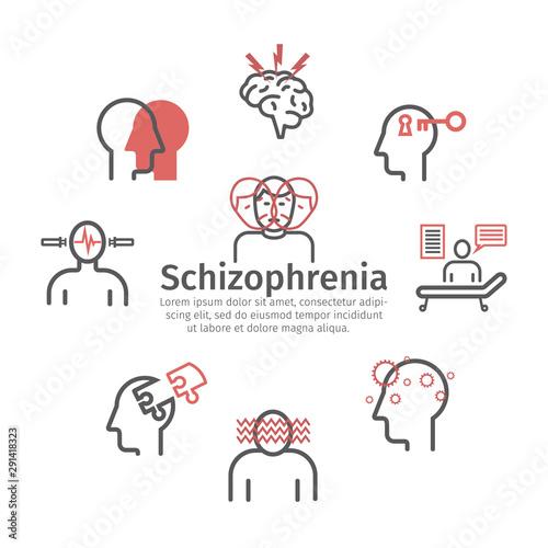 Schizophrenia banner Canvas Print