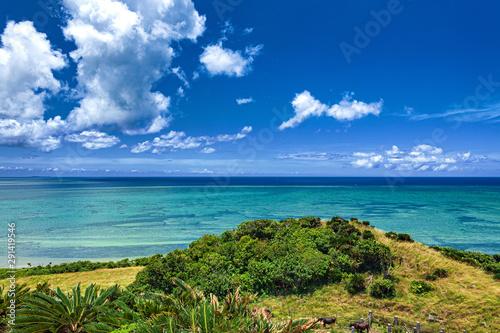 Fototapety, obrazy: 沖縄県・小浜島 ちゅらさん展望台からの風景