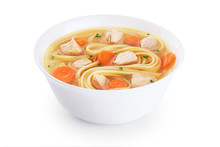Chicken Noodle Soup Isolated O...