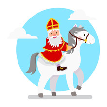 Illustration Of Saint Nicholas...