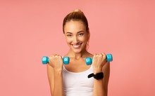 Positive Girl Exercising With ...