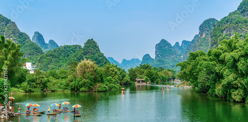 The Beautiful Landscape Scenery of Guilin, Guangxi Canvas Print