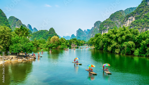 Tablou Canvas The Beautiful Landscape Scenery of Guilin, Guangxi