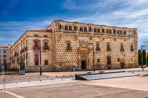 Infantado Palace. Guadalajara. Spain. Gothic palace with Renaissance elements, built at the end of the xv century.