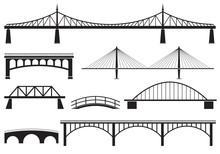 Bridge Icon Set. Different Bri...