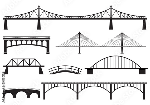 Bridge icon set Fototapet