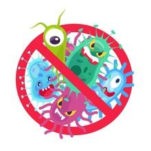 Antibacterial Symbol. Virus In...
