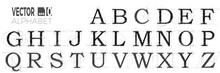 Set Of Font And Alphabet, Vect...
