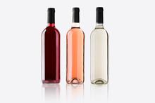 Mockup Botellas De Vino Variadas