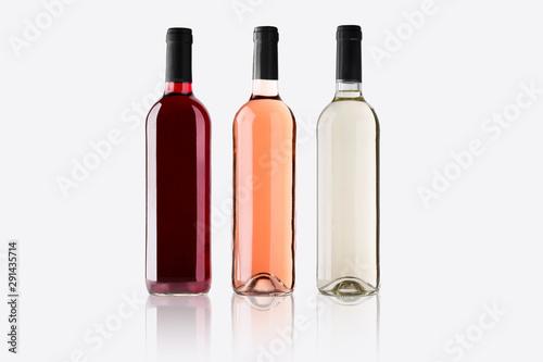 Mockup botellas de vino variadas Canvas Print