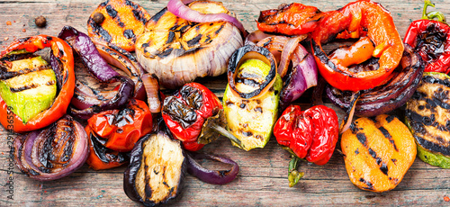 Grilled vegetables mix Wallpaper Mural