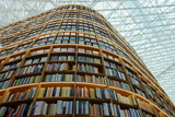 Library with lots of book and build like skycraper