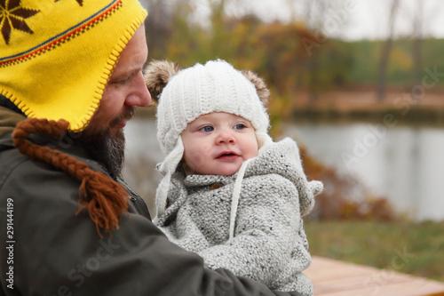 Fotografia, Obraz Happy family together autumn fall