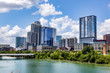 canvas print picture Downtown skyline of Austin, Texas, the USA. Colorado River