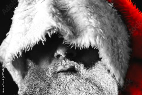Man with beard in Santa Claus hat Tapéta, Fotótapéta