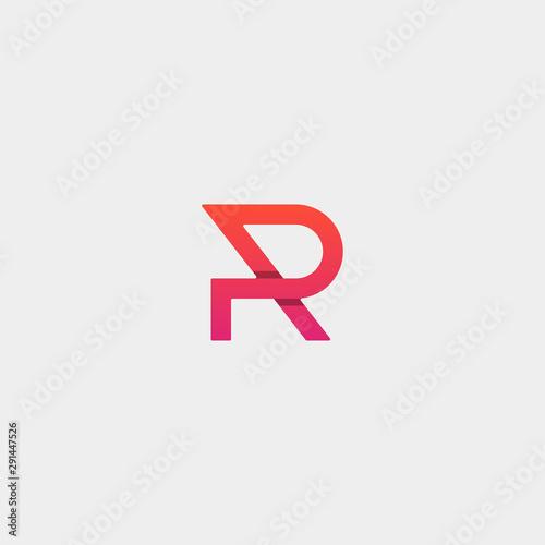 Photo  Letter P PR RP Monogram Logo Design Minimal