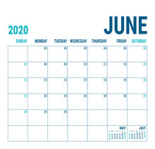 June 2020. Calendar Planner. E...