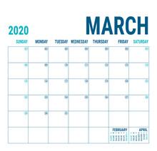 March 2020. Calendar Planner. ...