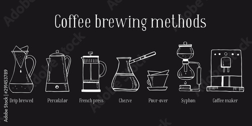 Leinwand Poster Alternative coffee brewing methods