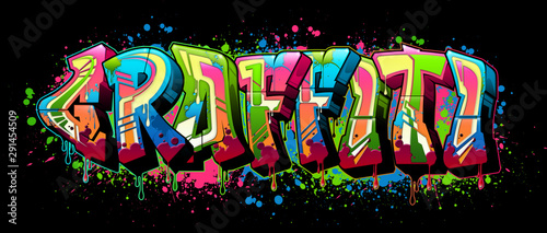 Poster Graffiti Graffiti - black