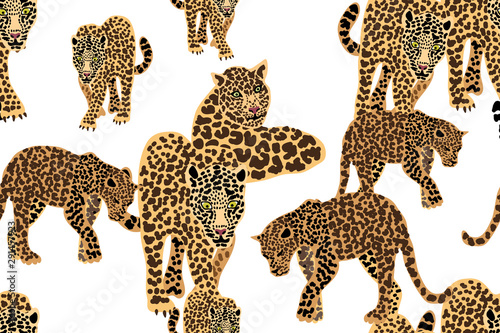 Safari textile collection. Wallpaper Mural