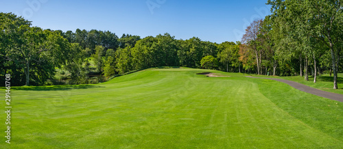 Fotomural Golf Course with beautiful green field