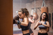 Group Of People In A Boxing Fi...