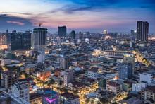 Phnom Penh By Night, Cambodia