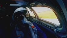 Pilot In Helmet And Mask Taxis
