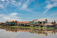 Floating Village Of Kampong Khleang Along The Tonle Sap Lake, Cambodia